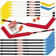 Cosom-By-Cramer-43-Inch-Junior-Hockey-Sticks-for-Floor-Hockey-and-Street-Hockey-20-Piece-Set-Standard-Shaft-12-Sticks-2-Goalie-Sticks-2-Balls-2-Pucks-2-Replacement-Shafts-0