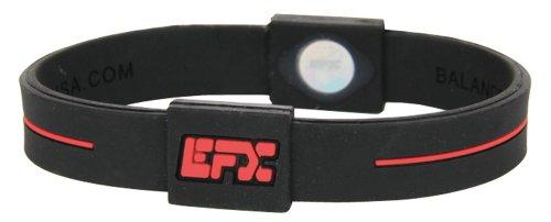 EFX-Silicone-Sport-Bracelet-8-Inch-BlackRed-0