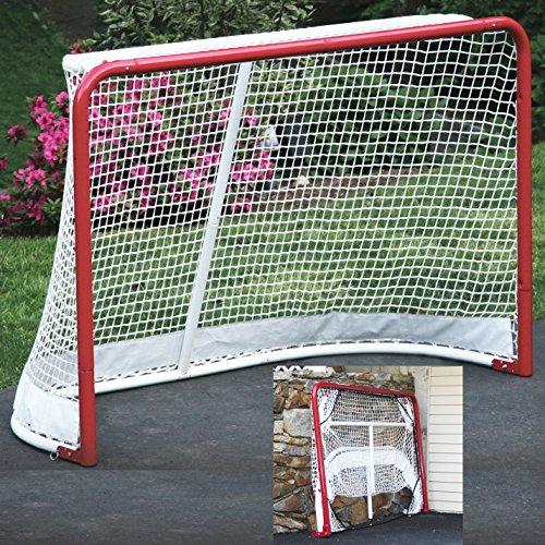 EZGoal-Hockey-Folding-Pro-Goal-2-Inch-RedWhite-0