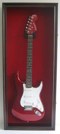 Electric-Fender-Guitar-Display-Case-Cabinet-Wall-Hanger-Rack-Lockable-Door-Mahogany-GTAR2R-MA-0