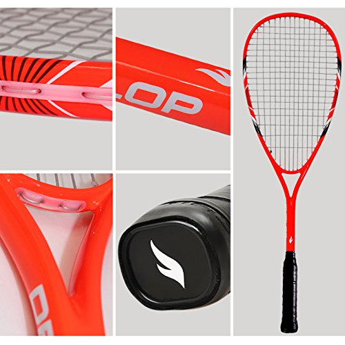 FANGCAN-FCSQ-01-CarbonAl-Squash-Racket-with-Cover-for-Beginner-Orange-0-0