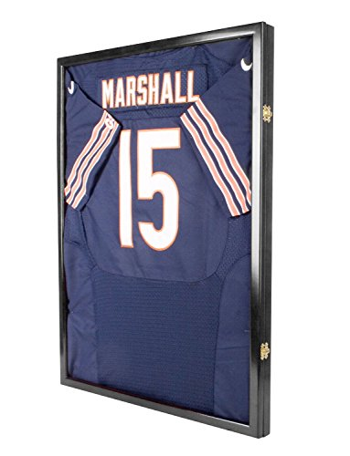 Football-Baseball-Basketball-Cloth-Jersey-XL-Display-Case-98-UV-Protection-Shadow-Box-JC34-BLACK-0-1