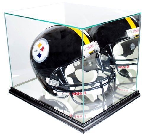 Full-Size-Football-Helmet-Display-Case-Glass-Top-with-Black-Base-0-0