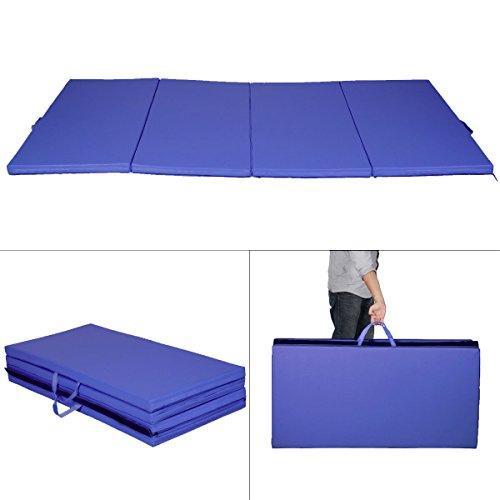 Giantex-Blue-4x8x2-Thick-Folding-Panel-Gymnastics-Mat-Gym-Fitness-Exercise-Mat-0