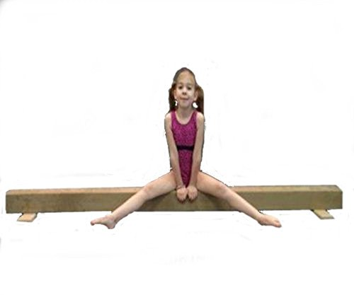 Gymnastic-WOOD-Balance-Beam-8ft-Balance-Beam-TAN-0