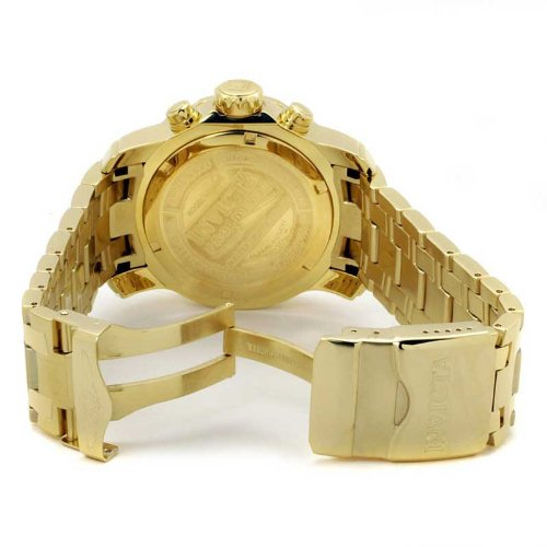 Invicta-Mens-0073-Pro-Diver-Collection-Chronograph-18k-Gold-Plated-Watch-with-Link-Bracelet-0-0