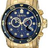 Invicta-Mens-0073-Pro-Diver-Collection-Chronograph-18k-Gold-Plated-Watch-with-Link-Bracelet-0