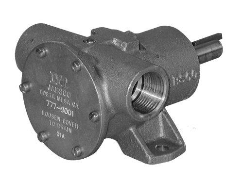Jabsco-777-9001-Marine-Pulley-Driven-Flexible-Impeller-Pedestal-Mount-Pump-62-GPM-Neoprene-Impeller-Full-Cam-Face-Seal-1-NPT-Ports-0