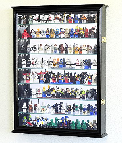 Large-Lego-Men-Minifigures-Star-Wars-Disney-Minature-Figurines-Display-Case-Cabinet-wAdjustable-Shelves-0