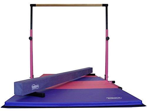 Little-Gym-Adjustable-Horizontal-Bar-Purple-Low-Balance-Beam-PinkPurple-Gymnastics-Folding-Mat-0