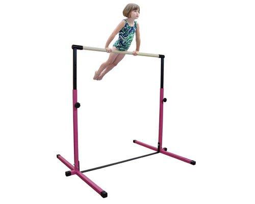 Little-Gym-Deluxe-Adjustable-Bar-Adjustable-Balance-Beam-8ft-Folding-Mat-6ft-Landing-Mat-0-0