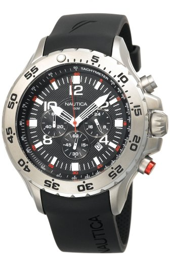 Nautica-Mens-N14536-NST-Stainless-Steel-Watch-with-Black-Resin-Band-0-0