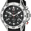 Nautica-Mens-N14536-NST-Stainless-Steel-Watch-with-Black-Resin-Band-0