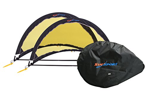 SUESPORT-Pop-Up-Soccer-Goals-Set-of-2-Two-Goals-Carry-Bag-Foldable-Goals-Colapsible-0