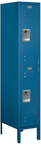 Salsbury-Industries-62158BL-U-Double-Tier-1-Inch-Wide-5-Feet-High-18-Inch-Deep-Unassembled-Standard-Metal-Locker-Blue-0