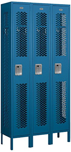 Salsbury-Industries-71362BL-U-Single-Tier-3-Inch-Wide-6-Feet-High-12-Inch-Deep-Unassembled-Vented-Metal-Locker-Blue-0