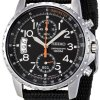 Seiko-Mens-SNN079P2-Chronograph-Stainless-Steel-Watch-With-Black-Cloth-Band-0