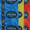 Survivor-Amazon-Complete-Set-of-All-3-Tribe-Buffs-Red-Jacare-Buff-Blue-Tambaqui-Buff-and-Yellow-Fabaru-Buff-as-seen-on-TV-Show-0
