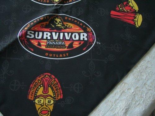 Survivor-TV-Bandanas-Set-of-10-Panama-Black-Bandanas-Representing-Gitanos-Tribe-0-0