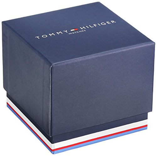Tommy-Hilfiger-Mens-1790885-Stainless-Steel-Watch-With-Blue-Silicone-Band-0-1