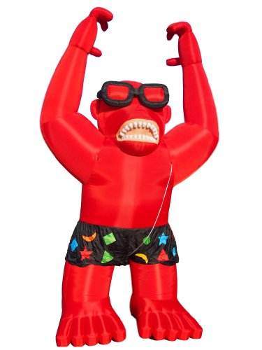 Torero-Inflatables-Giant-Gorilla-Inflatables-with-Harnessing-Red-0