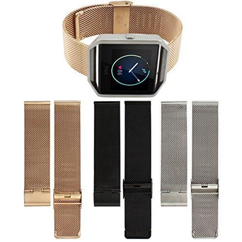 UCEC-Metal-Milanese-Loop-Stainless-Steel-Watch-Strap-Adjustbable-Bracelet-Band-for-Fitbit-Blaze-0