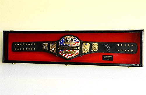 WWE-WWF-WRESTLING-CHAMPIONSHIP-ADULT-SIZE-BELT-DISPLAY-CASE-FRAME-CABINET-BOX-54-0