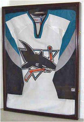 XX-Large-FootballBaseballHockey-Uniform-Jersey-Display-Case-frame-UV-Protection-ULTRA-CLEAR-LOCKS-Mahogany-Finish-JC02-MA-0-1