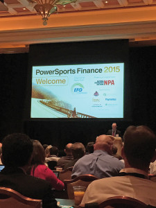 Powersports lending took center stage at the Powersports Finance 2015 conference, which was held at the Wynn Las Vegas in conjunction with the 15th Annual Auto Finance Summit in October.