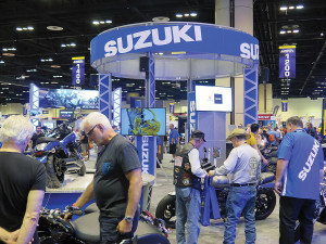 Suzuki brought good news in October to dealers and consumers attending AIMExpo in Orlando.