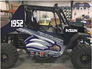 ƒ The Hisun 1000 Strike 1000 sport UTV will be equipped with its stock chassis on the 840-mile course.