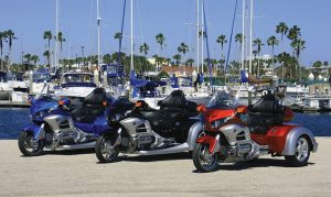 Roadsmith Trikes displayed its new HTS1800 kit for the Gold Wing 1800 at Daytona Beach's Bike Week in March.