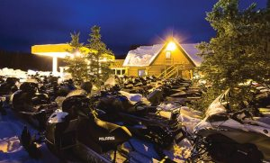 Togwotee Mountain Lodge in Wyoming draws 7,000-8,000 snowmobile rental customers in an average season.
