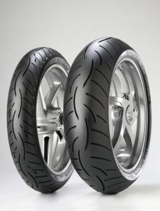 The Metzeler Roadtec Z8 Interact tires ranked at the top of a street bike tire search list provided by ARI.