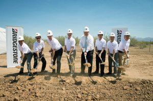 Groundbreaking for Bridgestone America's Mesa, Ariz., research center took place May 16.