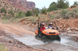 The western Colorado canyonlands served as the ideal terrain for the launch of the all-new 2014 KYMCO USA UXV 700i. It's available in five versions, with a base MSRP of $10,099. (Photo by Brian J. Nelson)