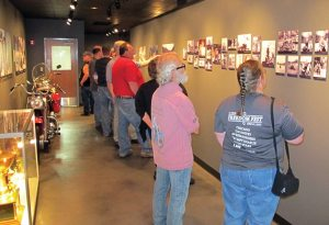 The newly remodeled company museum attracted attendees during plant tours at the S&S Cycle 55th anniversary party.