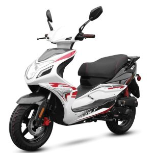Wolf Brand Scooters is the rebranded name of the former Gorilla Motor Works. The Blaze, available as a 50cc or a 150cc, is Wolf's first model.