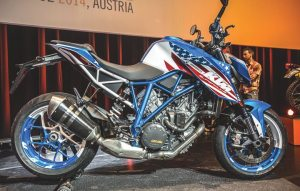 "The hand-painted 1290 Super Duke R ""Patriot Edition"" gave a nod to Independence Day during KTM North America's July dealer meeting in Austria."