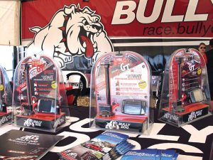 Bully Dog's new Powersports GT, its first product for the snowmobile industry, got top billing under the semi-truck's tent at Haydays.