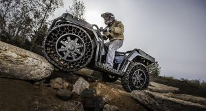 Non-pneumatic tires are a big advancement for the off-road world - expect to see more of them available to consumers.