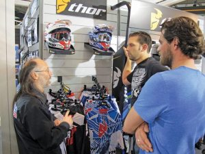 Parts Europe's booth was buzzing with activity, with the Thor brand getting particular attention.