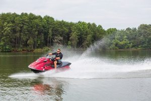 The Yamaha WaveRunner VX performance series features the industry's first 1.8-liter engine.