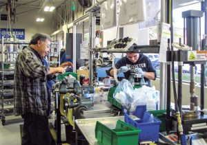 Fox runs two shifts out of its Watsonville, Calif., facility. All of Fox's powersports shocks come out of this factory.