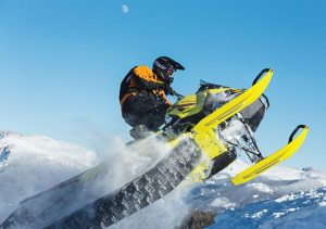 The 2015 Ski-Doo Summit X with T3 package offers the longest stock track ever available in the industry at 174 inches.