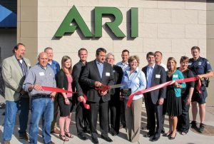 Guests from the local business community joined in the ribbon-cutting ceremony.