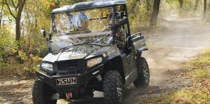 The HISUN Sector 550 is part of the company's lineup of 14 UTVs and seven ATVs.