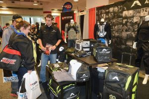 Dylan Jones was on hand at the Parts Unlimited/Drag Specialties Regional Showcase in Atlanta, showing dealers American Kargo's new gear bags.