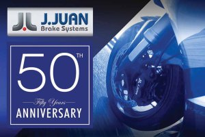 Spain's J.JUAN Brakes unveiled its 50th anniversary logo.