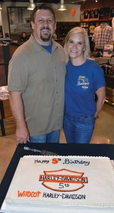 Owner Shane Richmond and his wife, Mechelle, at Wildcat's fifth anniversary. Each year, Wildcat hosts a Birthday Bash that draws more than 4,000 spectators to one of Kentucky's largest firework shows.